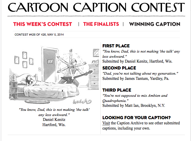 The New Yorker Caption Contest 6