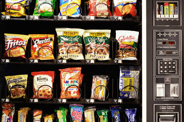 Confronting Your Office's Vending Machine Over Changes In Its Menu